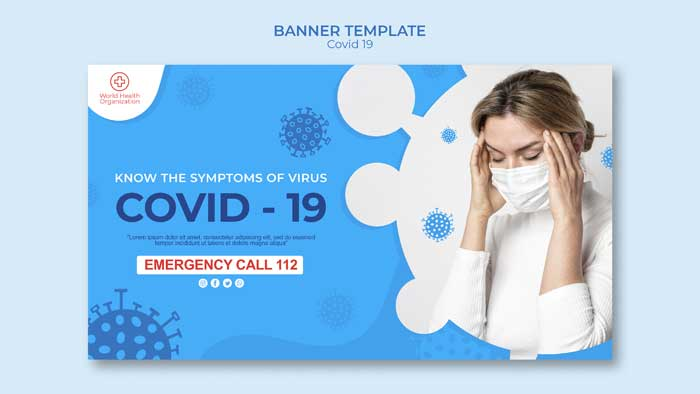 Covid-19 Banner PSD Template