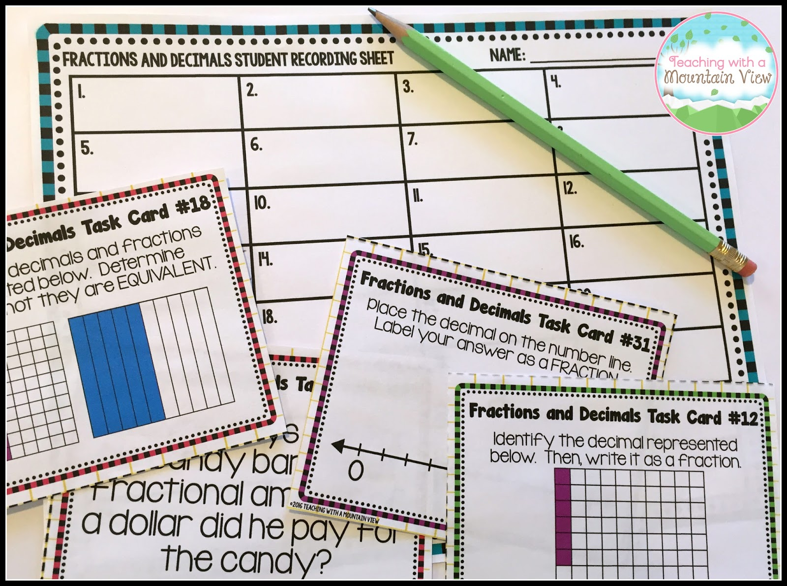 These Task Cards Are A Perfect Option For Scoot Because They Are Very Quick  To Solve The First Set Is Identifying And The Second Set Has Them Adding