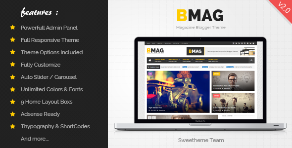 Free Download BMAG V2.0 Magazine Responsive Blogspot Template