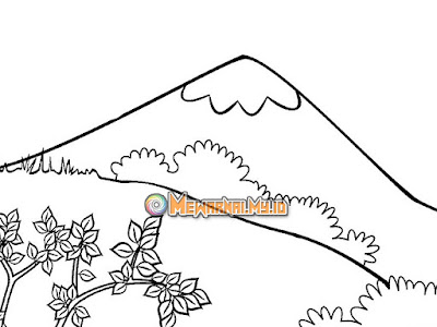 gambar pemandangan gunung untuk anak tk