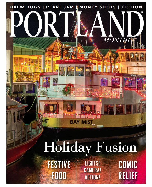 A throwback to a festive December 2015 photo on the cover of this month's Portland Magazine.