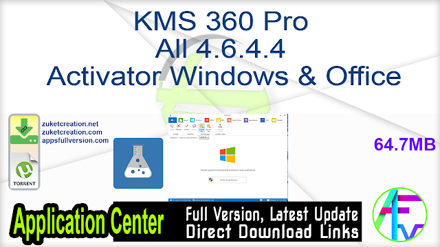 KMS 360 Pro All 4.6.4.4 Activator Windows & Office