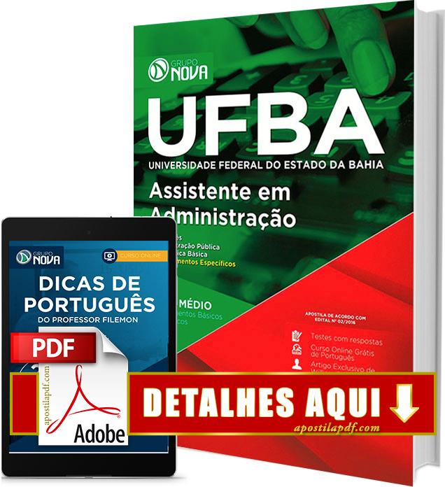 Apostila UFBA 2017 Assistente em Administração PDF Impressa