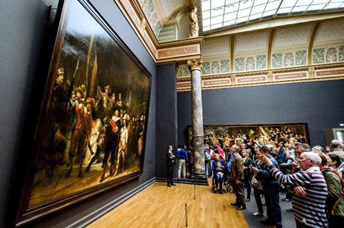 La-ronda-de-noche,-por-Rembrandt-museo-amsterdam