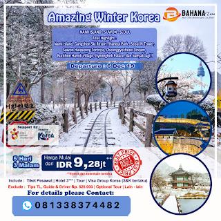 PAKET TOUR WINTER KOREA 2019