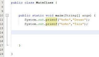 Menformat String Dengan Printf Java