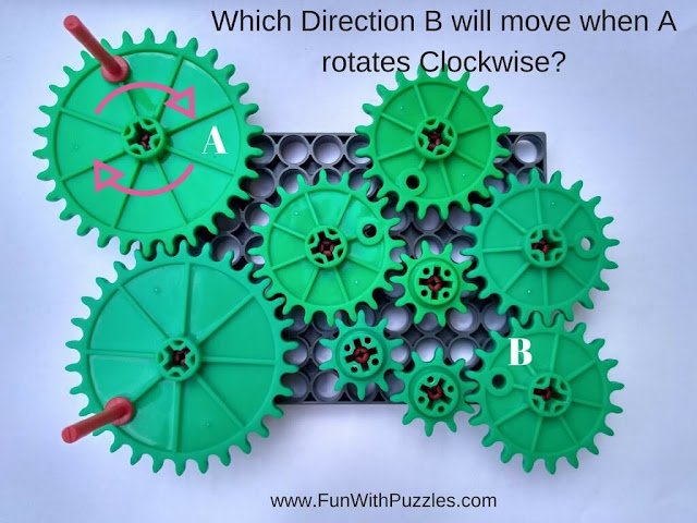 Rotating Gear Visual Puzzle
