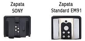 Como funciona el flash - Tipo de zapata