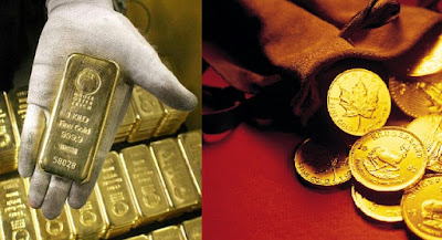 pure raw gold bar and coins pictures