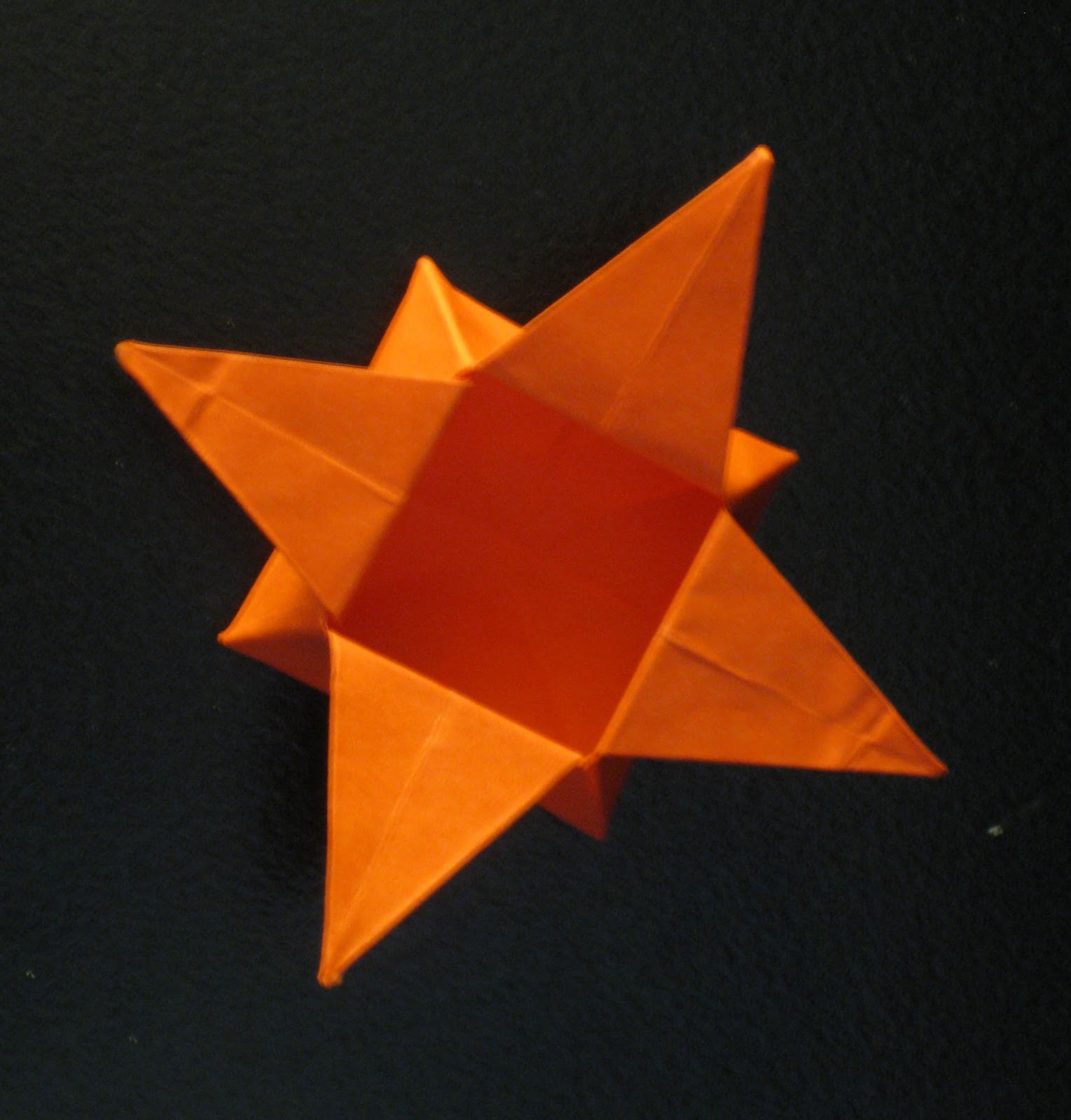 Four Pointed Origami Paper Star