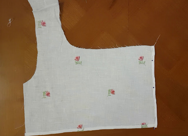 front bodice part of the fashion fabric