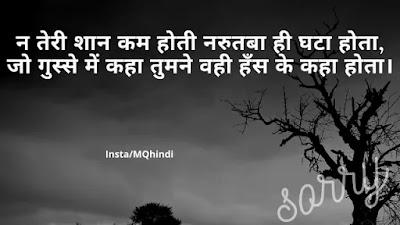 Sorry Shayari For Gf In Hindi