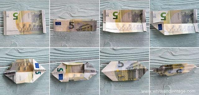Geldscheine zu Schmetterling falten