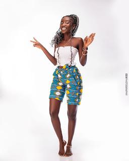 knee length ankara shorts