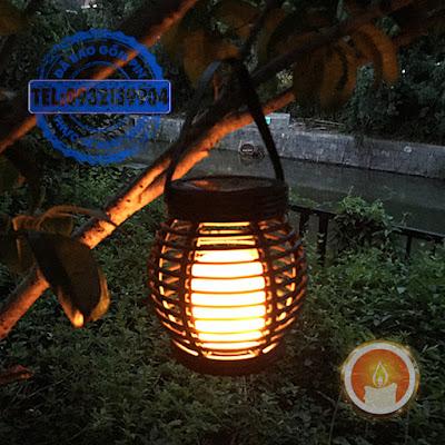 Lồng đèn năng lượng mặt trời cảm biến ánh sáng