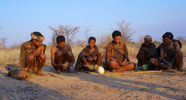 Botswana Bushmen or San community