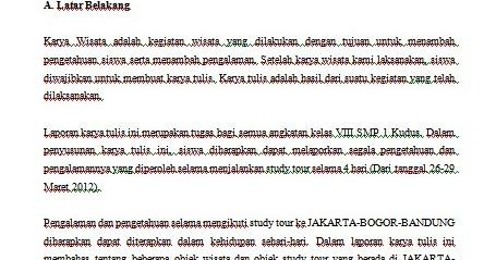 CONTOH MAKALAH STUDY TOUR KE JAKARTA BANDUNG