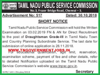TNPSC-townplannning-country-planning-department-draughtsman-grade-iii-posts-recruitment-notification-tngovernmentjobs-in