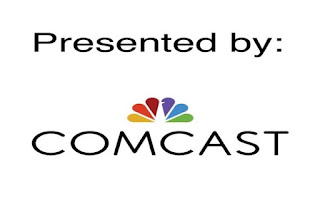 """Presented By Comcast. Includes the Comcast """"peacock"""" logo"""