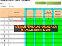 Format dan Aplikasi Penilaian Harian PJOK K13 Kelas 6 Semester 2