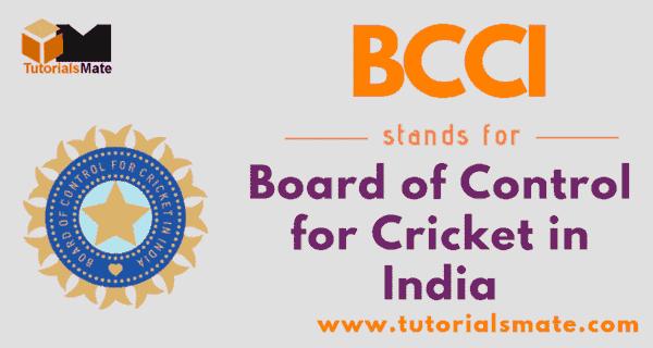 BCCI Full Form