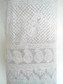Mukesh -white-dress-material-lace-pure-georgette-chikankari