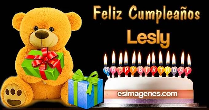 Feliz Cumpleaños Lesly