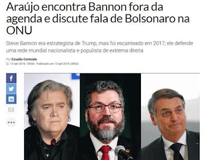 Bannon, Araújo, Bolsonaro