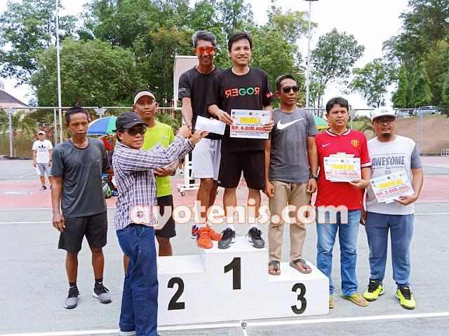 Abdul Kahar Mim Sabet Gelar Juara Turnamen Tennis Bontang Open 2019