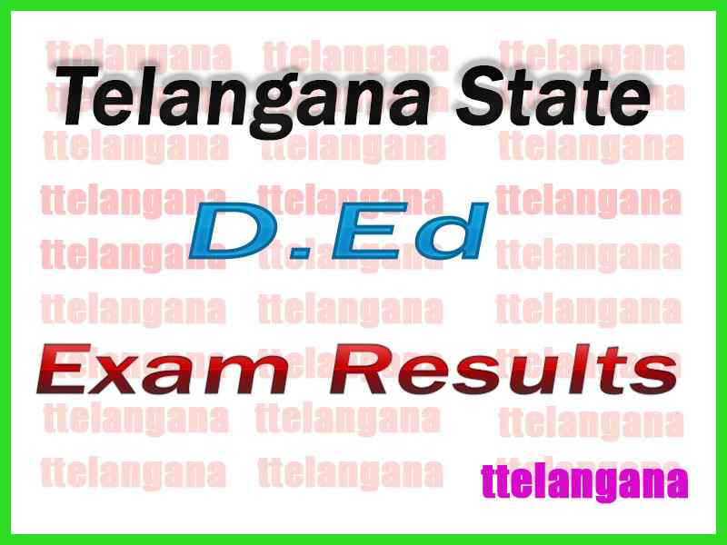 Telangana TS D.Ed First Year / 2nd Year Results Download
