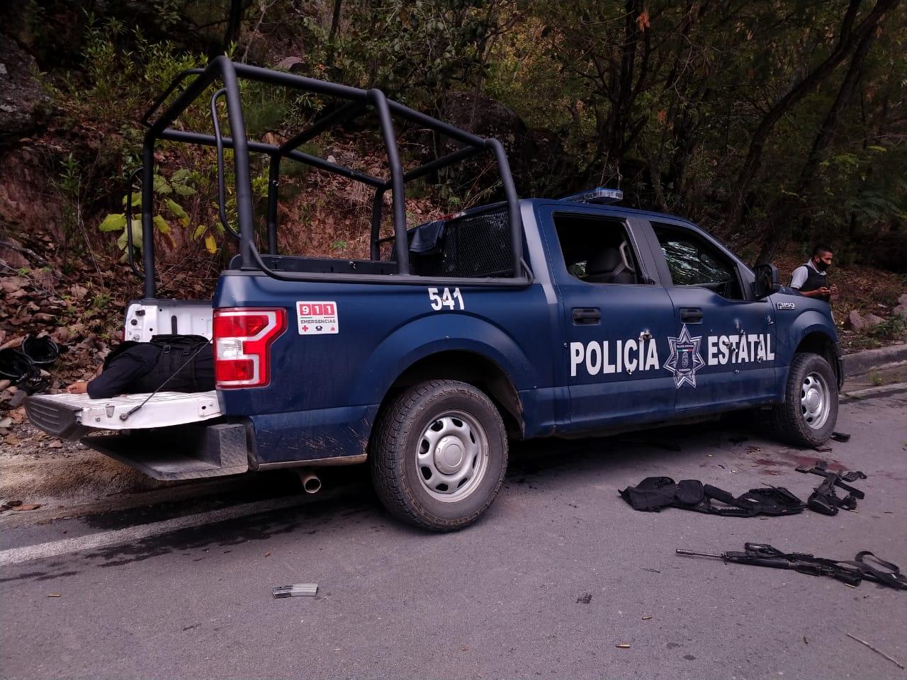 6 Policías Estatales muertos y 5 heridos deja enfrentamiento contra Sicarios en Taxco; Guerrero