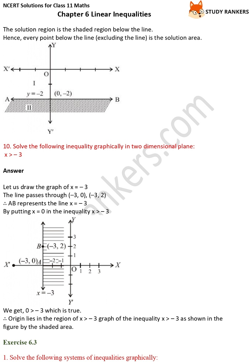 NCERT Solutions for Class 11 Maths Chapter 6 Linear Inequalities 16