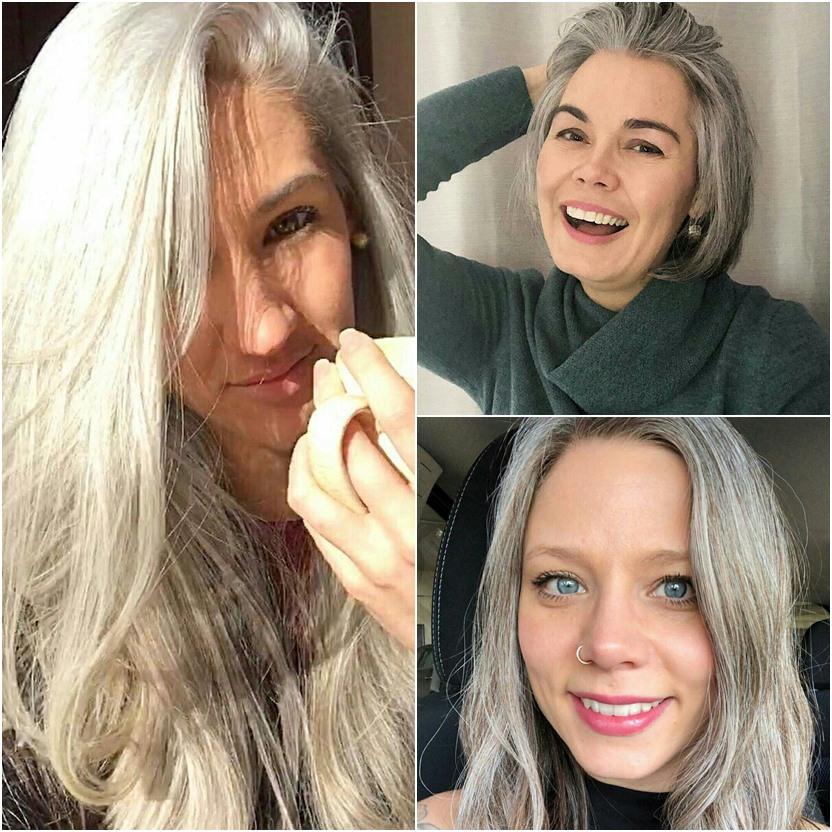 Mulheres grisalhas e lindas do instagram