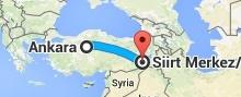 Ankara'dan Siirte Uçakla Seyahat
