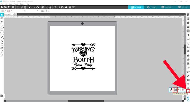 warp tool, silhouette studio, cameo 4, designer edition, silhouette studio v4