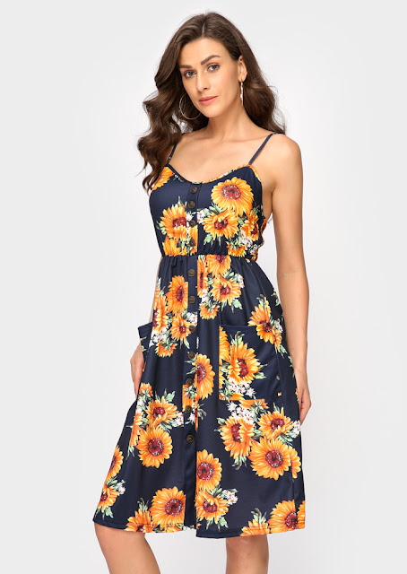 Floral Spaghetti Strap Maxi Dress