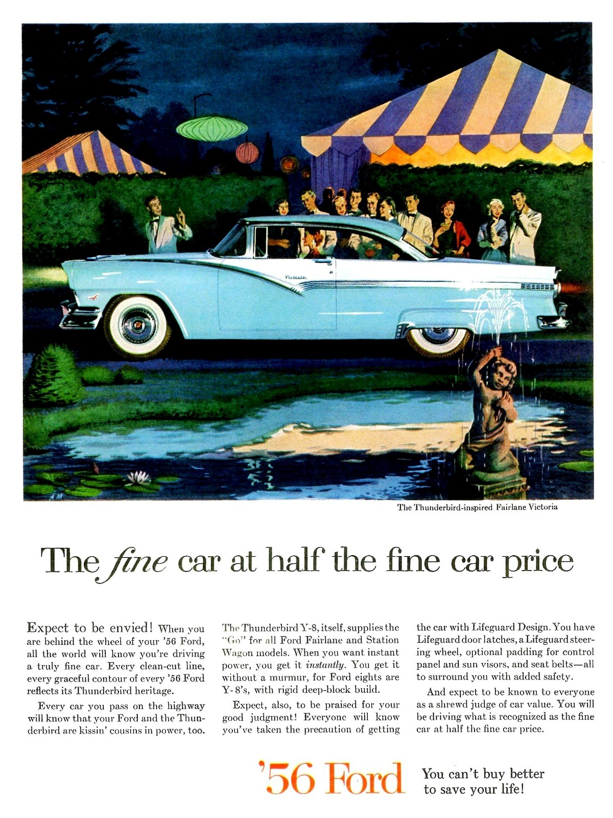 1956 Ford Fairlane - Vintage Cars Ads