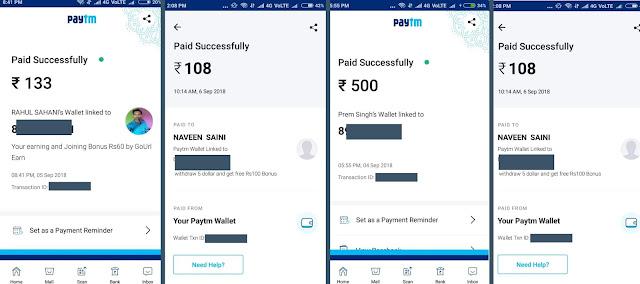 Go URL Earn earning proof