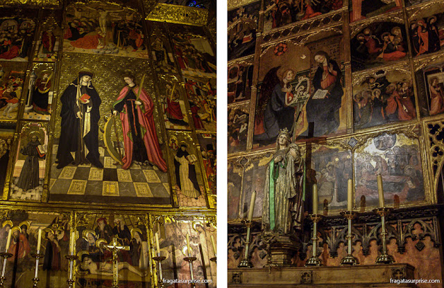 Altares laterais da Catedral de Barcelona