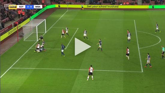 Video Southampton 1 - 0 West Brom Premier League