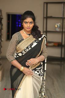 Telugu Actress Jayavani Jayavani Stills in Black Saree at Intlo Deyyam Nakem Bhayam Success Meet  0016.JPG