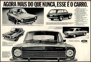 propaganda Ford Corcel - 1975, Ford Willys anos 70, carro antigo Ford, década de 70, anos 70, Oswaldo Hernandez,
