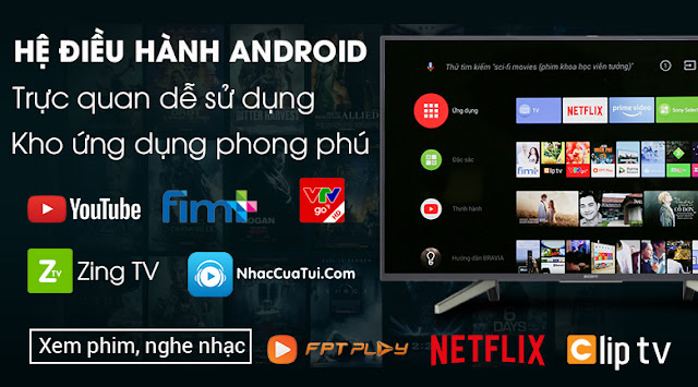 Android Tivi Sony 4K 43 inch KD-43X8000G