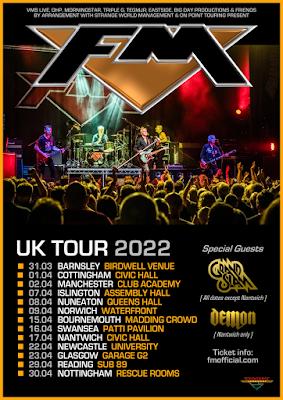 FM + Grand Slam UK tour April 2022 - poster