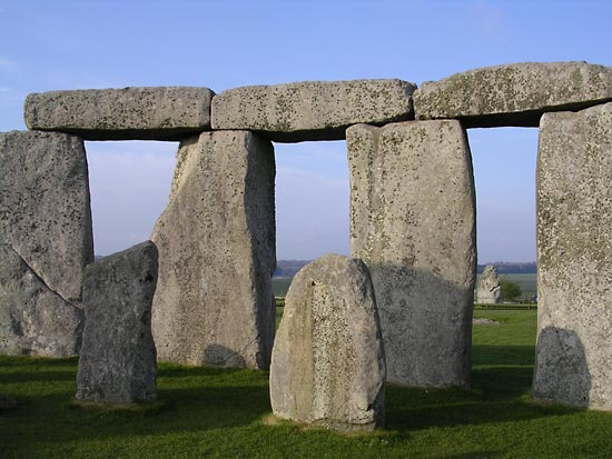 Stonehenge Images -Blue Sky and Standing Stones