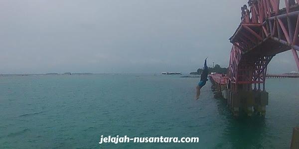aktivitas wisata jembatan cinta pulau tidung