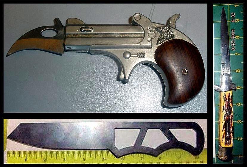 Knife Gun (BGR), Switchblade (LAS), Large Knife (CLE)