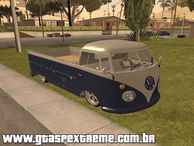 Vw Kombi Cabine Simples Euro Style para GTA San Andreas