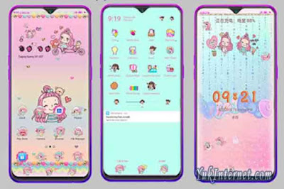 downlad tema oppo kawaii girl