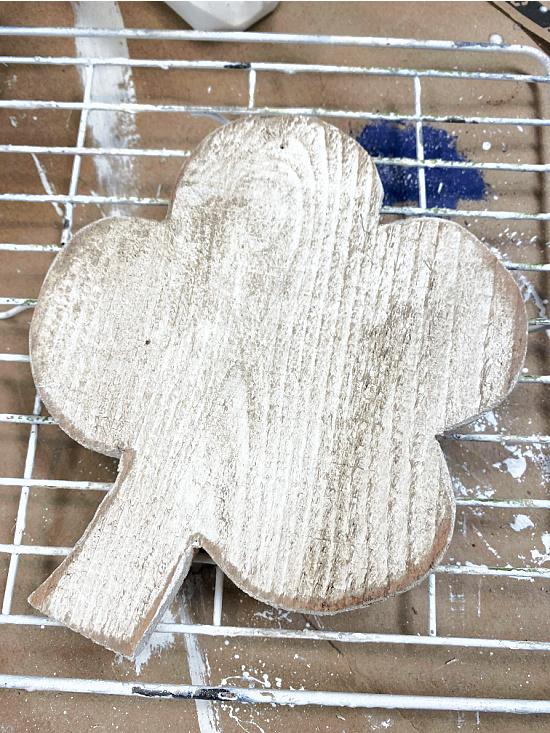 rustic and distressed wooden shamrock